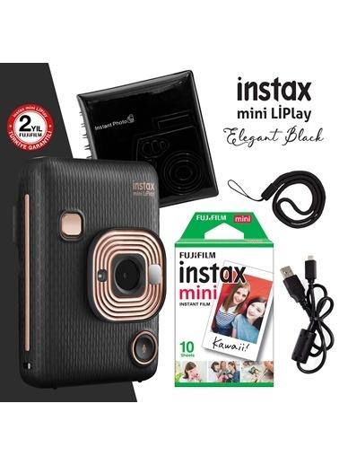 Fujifilm Instax Mini Liplay Hybrid Elegant Black Fotoğraf Makinesi Hediye Seti Renkli